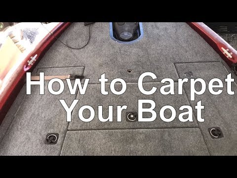 Bass Boat Carpet and Seat Replacement and a Recess Trolling Motor Tray!