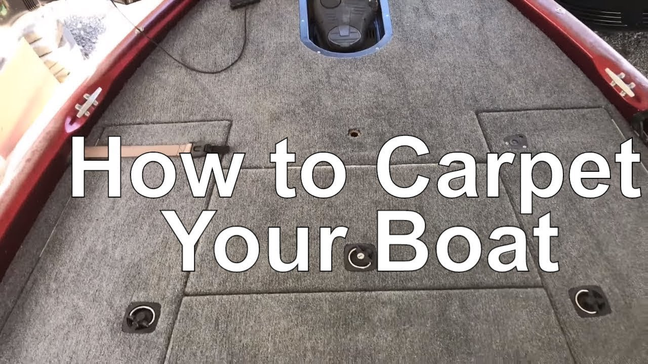 Bass Boat Carpet And Seat Replacement And A Recess
