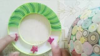 Paper quilling wreath tutorial