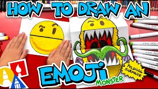 How To Draw An Emoji Monster - Folding Surprise