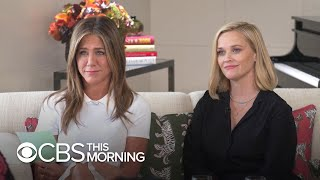 Jennifer Aniston and Reese Witherspoon interview real morning show host Gayle King