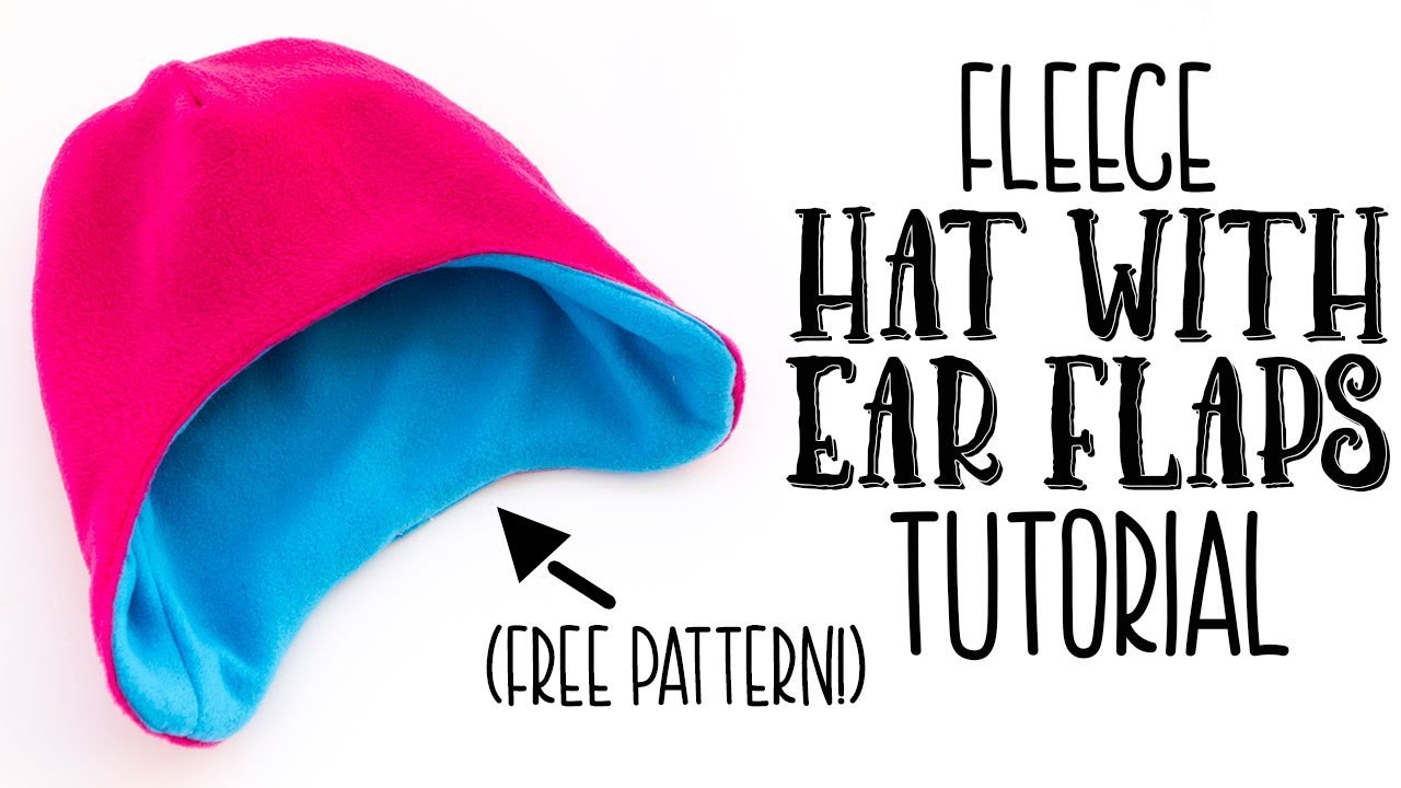 7d9177c6d57cf Fast Fleece Hat with Ear Flaps DIY (free pattern) - YouTube