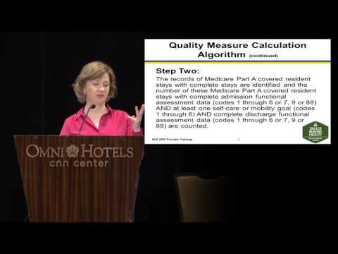 Section GG of the MDS 3.0 and an Overview of the IMPACT Act Function Quality Measure