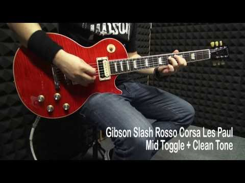 Gibson AFD Vermillion Red Rosso Corsa Slash Guitar Shoot Out (HD 1080)