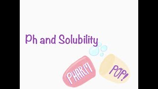 Ph and Solubility of Drugs