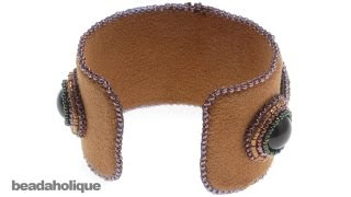 How to Cover a Cuff Bracelet in Ultra Suede and Add a Decorative Edge