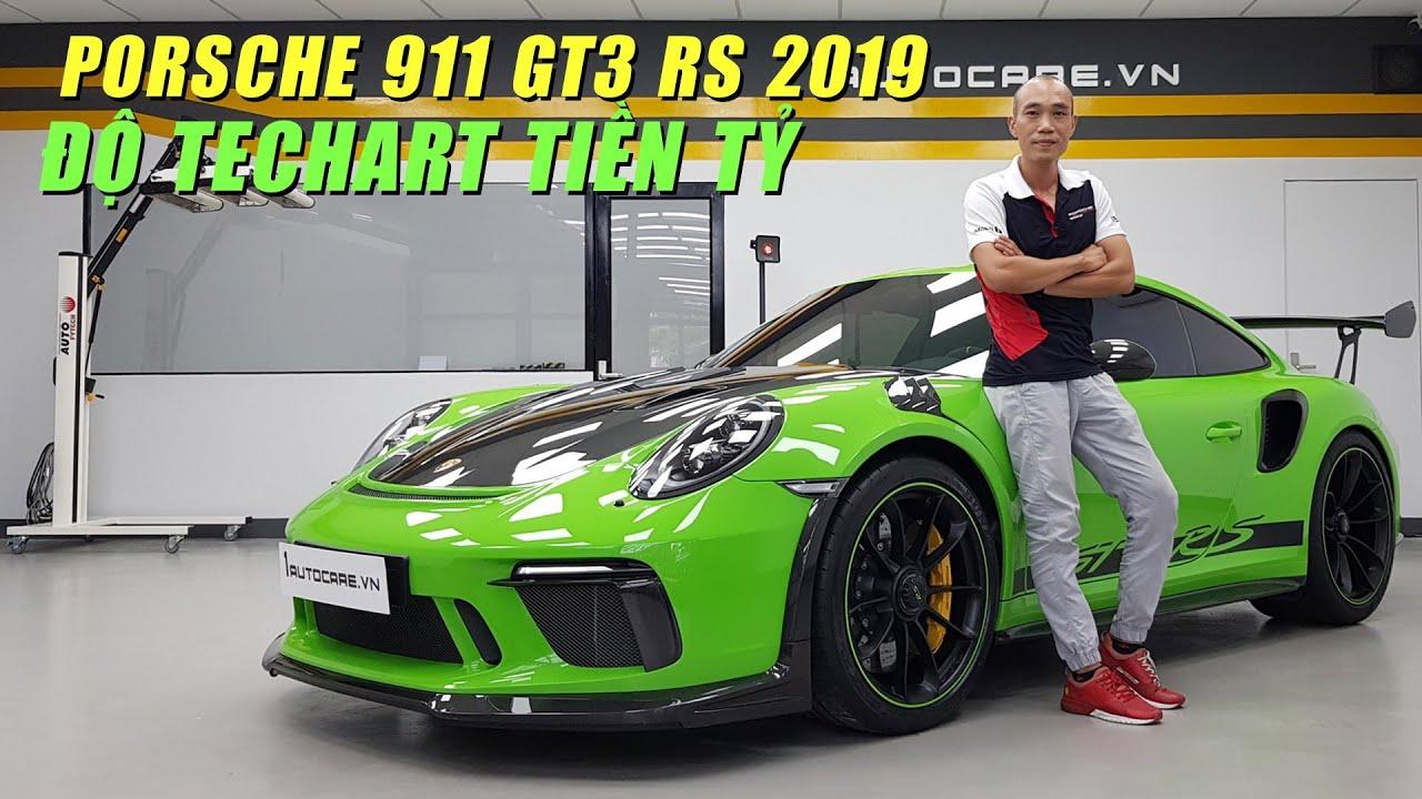 Siêu phẩm Porsche 911 GT3 RS 2019 độ gói TECHART Carbon tiền tỷ của đại gia ở Sài Gòn
