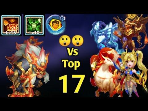 Beserker Vs Top -17   Game Changer..?😳😳   15 Skill   10  Soul Healer   10 FG   Castle Clash