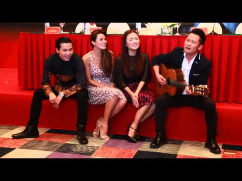 Bằng Kiều, Như Loan, Lam Anh, Mai Tiến Dũng hát với guitar mộc