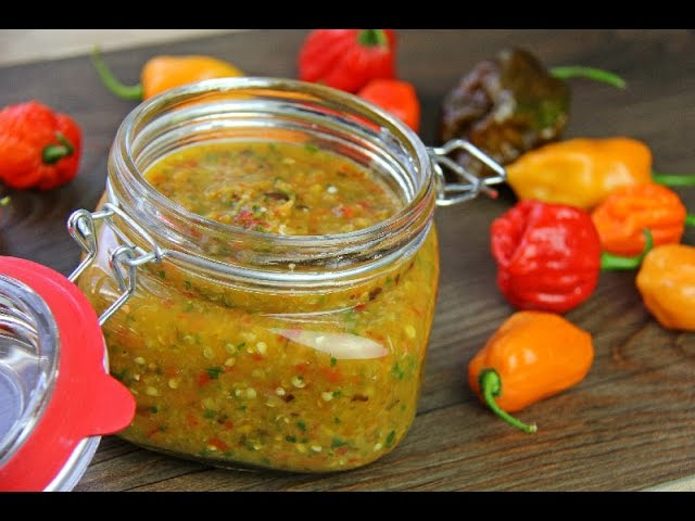 Traditional Caribbean Peppersauce Hot Sauce Recipe Youtube