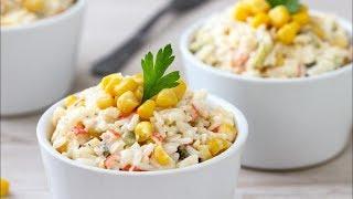 """Крабовый салат """"Классический"""" / Секреты приготовления крабового салата!!!!"""