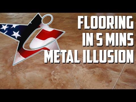 5 Min Edit Metal Illusion Floor