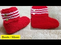 Knit Boots Shoes for Boy & Girl हिंदी / बुनाई डिजाइन - 37 * Boot for Girl & Boy- Part 1 *
