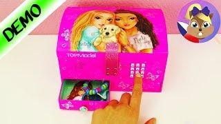TOPMODEL krabička na šperky s kódem | Skříňka na náramky, řetízky, kosmetiku & gumičky do vlasů