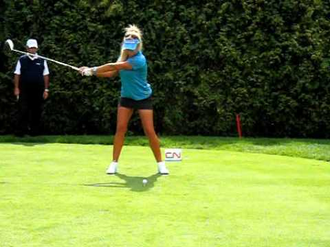 Natalie Gulbis  Driver Swing