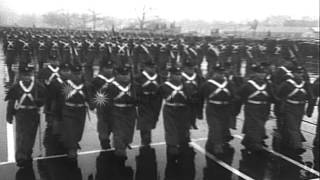 cadets of service academies at west point and annapolis marching in rain during p hd stock footage
