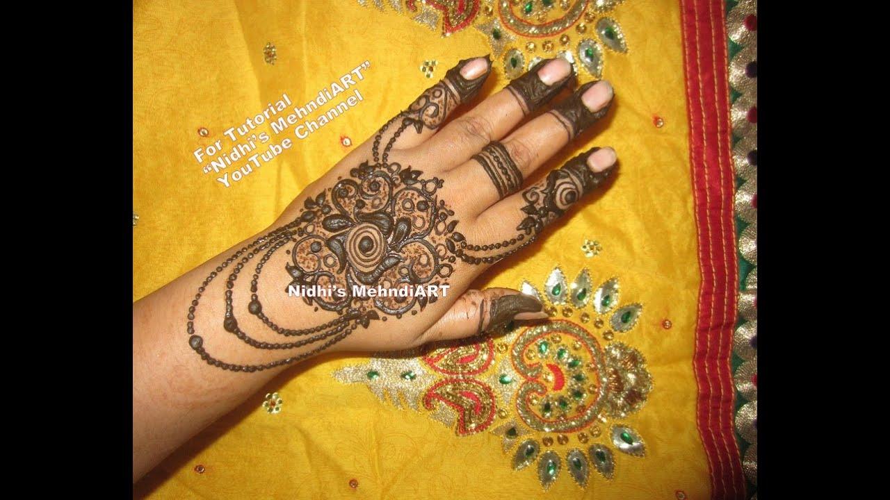 Henna Mehndi S : Latest hand ornament inspired khaleeji henna mehndi design tutorial