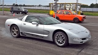 Turbo Gölfe vs Supercharged Corvette 5.7l Compilation