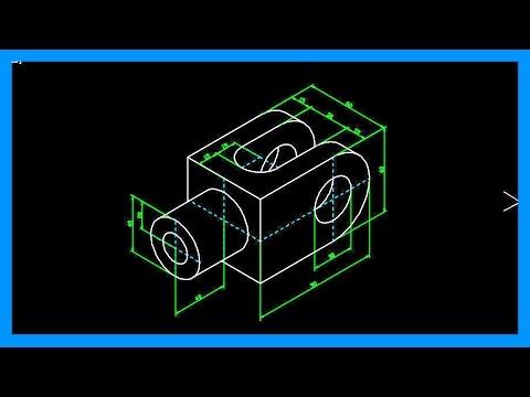... en isométrico. Dibujar pieza con elipses isométricas. Tutorial en