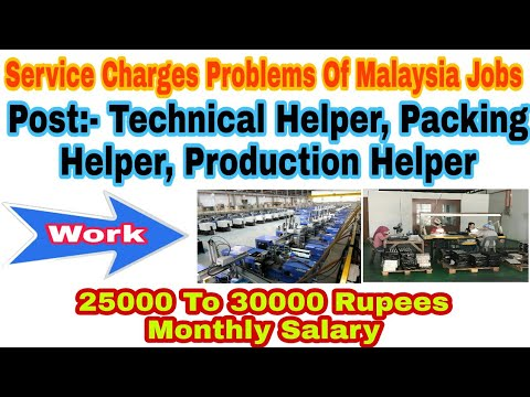 Best Service Charges Of Agency Of Malaysia Country Jobs, With 25K To 30k Rupees Monthly Salary