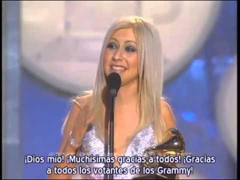 """Christina Aguilera - 1° Premio Grammy """"Best New Artist"""" / """"Artista Revelación"""" (Subtítulos español)"""