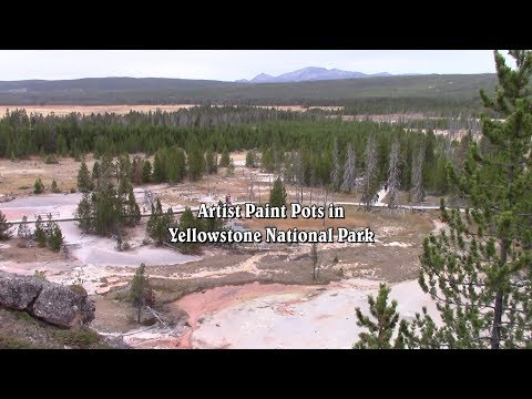 Artist Paint Pots in Yellowstone National Park