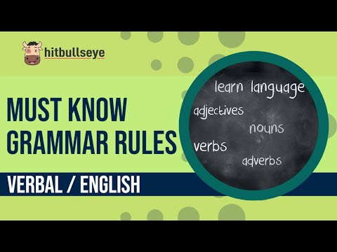Must Know Grammar Rules (E-Lecture) CAT MAT XAT SNAP IIFT