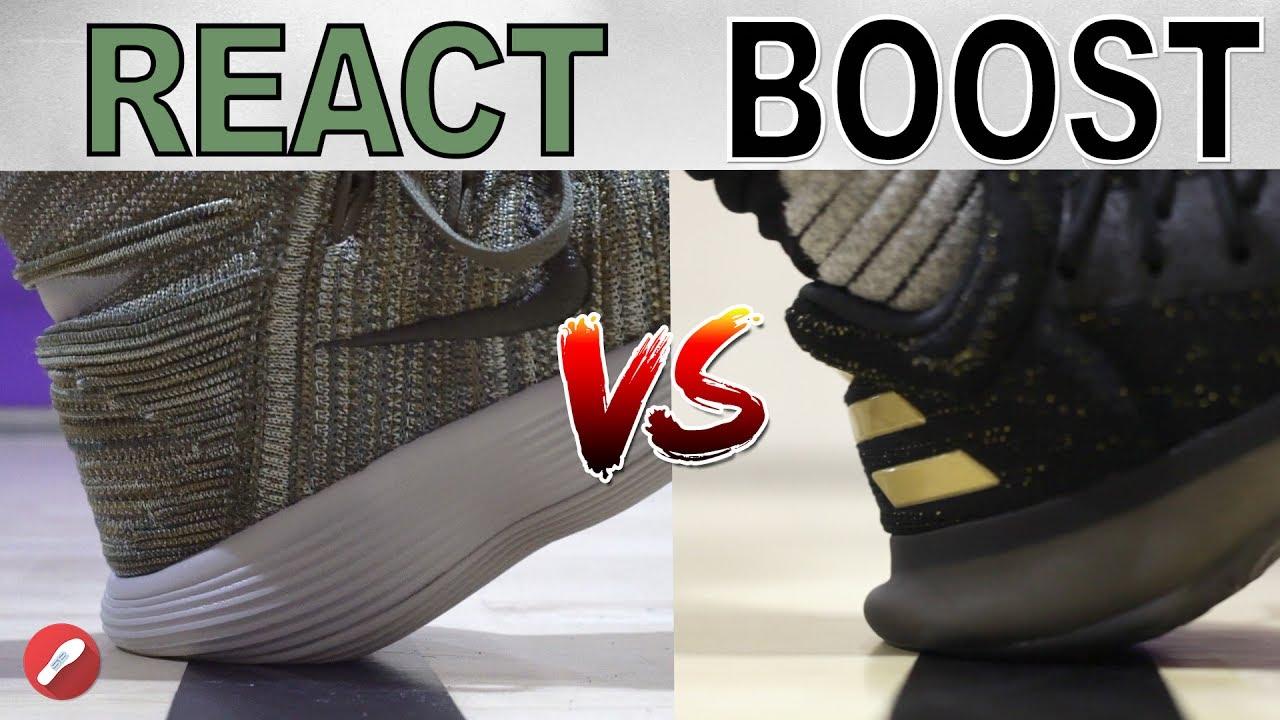 Elevado Memoria Comprimido  Nike REACT Cushion vs Adidas BOOST! What's Better?? - YouTube