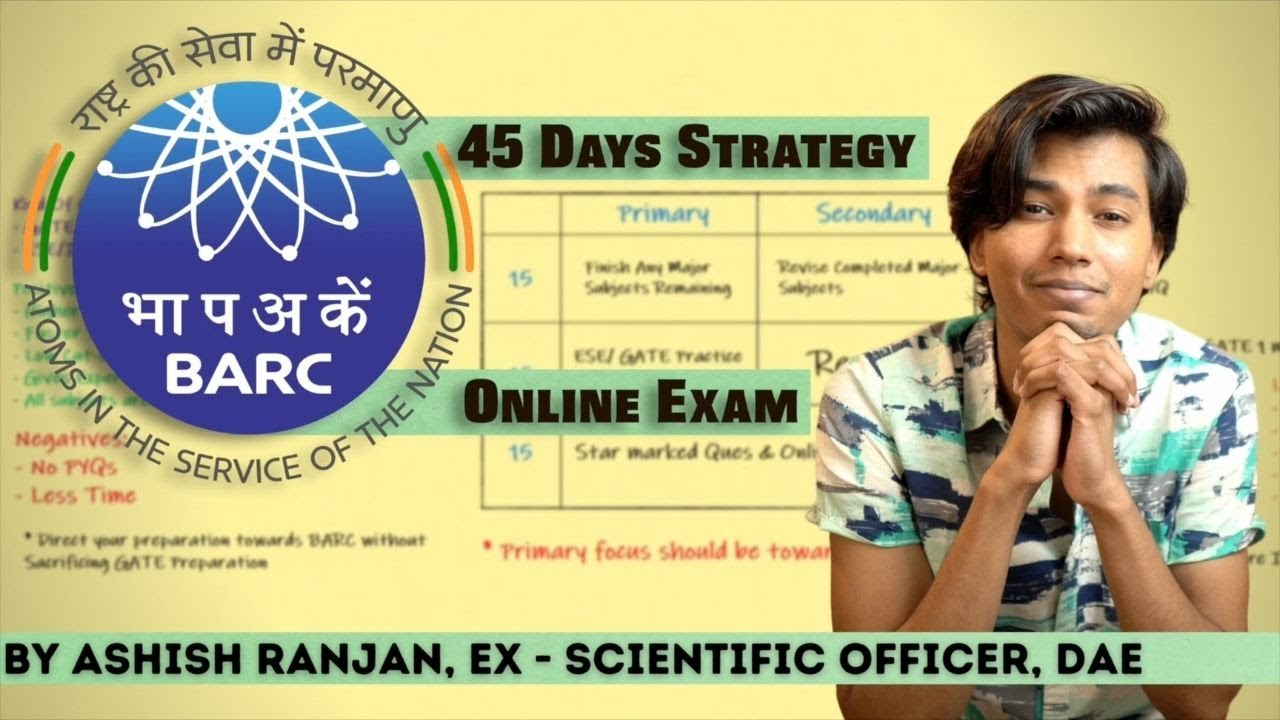 Download BARC Online Exam 45 Days Strategy   By Ashish Ranjan (Selected in BARC, IIT Bombay, ISRO AIR-4)