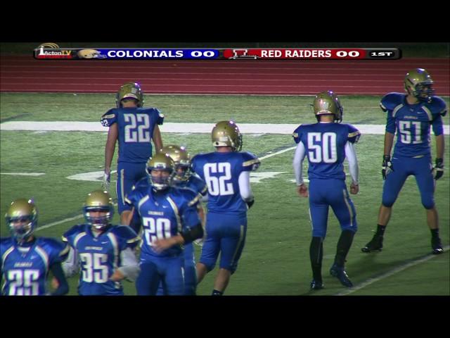 Colonials Football Week 8 vs Lowell 10/30/15