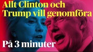 Sakfrågorna – allt Clinton och Trump vill genomföra