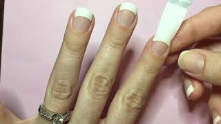 Color Street French Manicure Application
