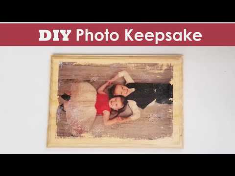 DIY Wood Photo Transfer Keepsake Craft
