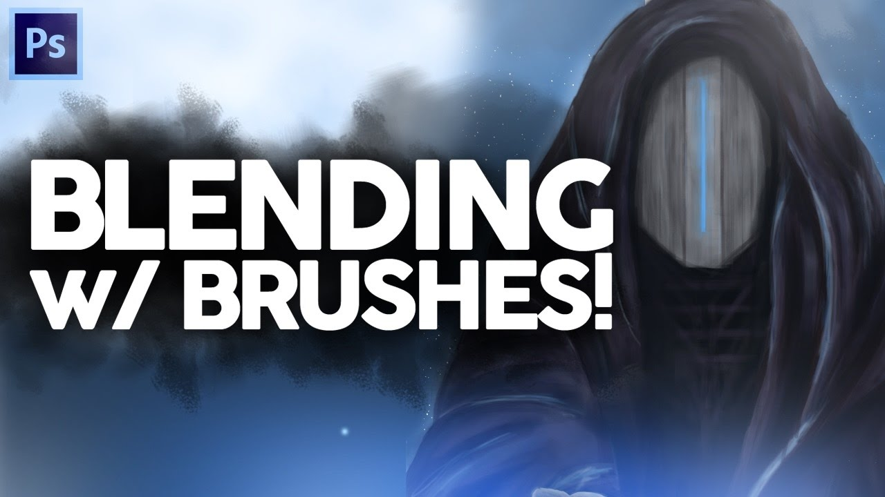 How to Blend Colors with Brushes on Photoshop CC! (Digital Painting)
