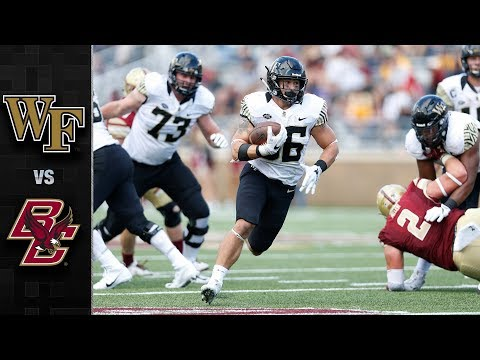 Wake Forest vs. Boston College Football Highlights (2017)