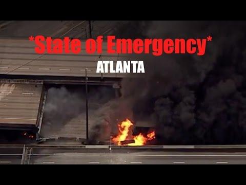*Breaking* | Atlanta Interstate Bridge Collapses in FLAMES! | Gov. Declares State of Emergency
