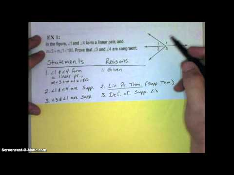 Lesson 2_8 Proving Angle Relationships Video Notes