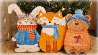 Cardboard toys DIY. Christmas cardboard decor, giant toy craft