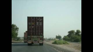 Driving from Sukkur to Karachi Pakistan