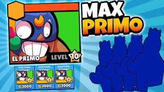 COOLEST NEW SKIN UNLOCKED! MAXING EL PRIMO! | Brawl Stars | MAX LEVEL 10 EL PRIMO!