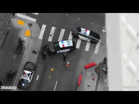 ILLEGAL Crane Climb in San Francisco City Hall Area (ARRESTED BIG TIME!)