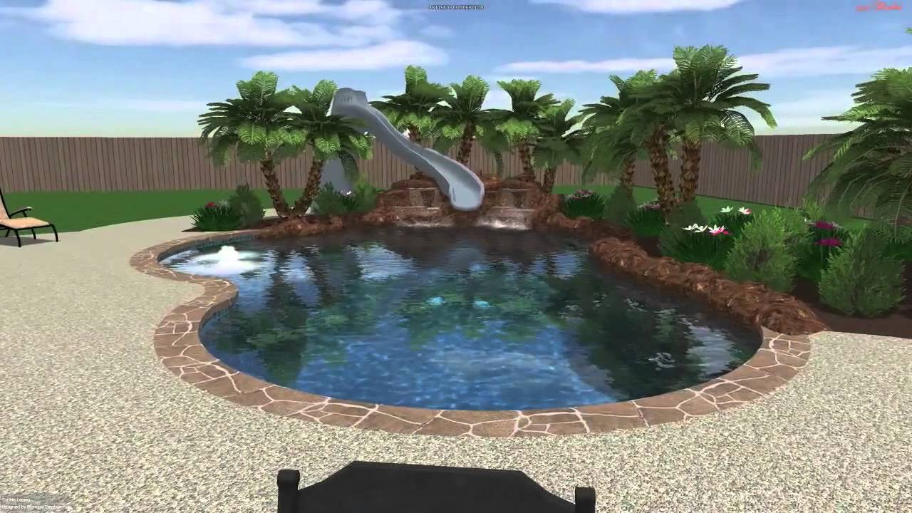 Leising pool 2 backyard amenities youtube for Putting shock in pool