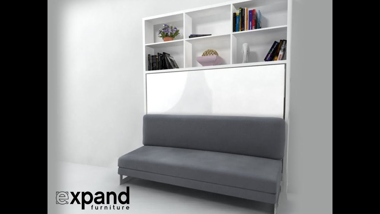 italian horizontal wall bed over sofa expand furniture