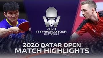 Fan Zhendong vs Liam Pitchford | 2020 ITTF Qatar Open Highlights (Final)