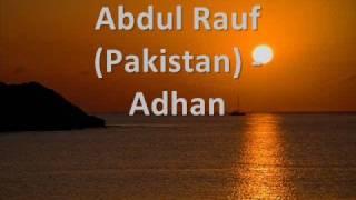 Abdul Rauf Pakistan - Adhan