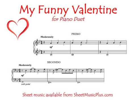 My Funny Valentine Easy Piano Duet Youtube
