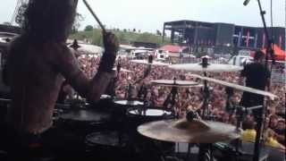 WHITECHAPEL FULL SET MAYHEM FEST 2012 DRUM VIEW