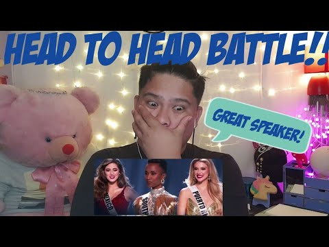 Top 3 Question And Answer Round | Miss Universe 2019 REACTION | Jethology