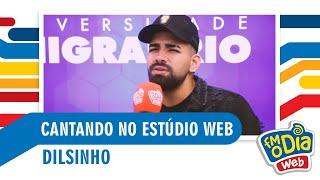 Dilsinho cantando no Estúdio Web da FM O Dia