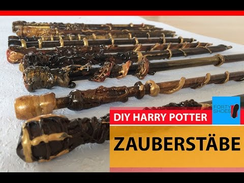diy zauberst be selbst gemacht harry potter party magic wand diy youtube. Black Bedroom Furniture Sets. Home Design Ideas